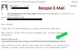 Beispiel der E-Mail
