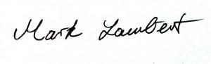 Unterschrift Mark Lambert