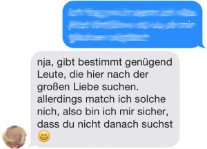 Tinder Chat-Auszug